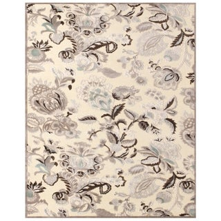 Feizy Penelope Cream Grey Area Rug (5'3 x 7'6)