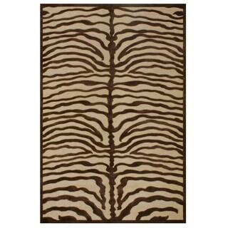 Soho Ivory Chocolate Area Rug (7'6 x 10'6)
