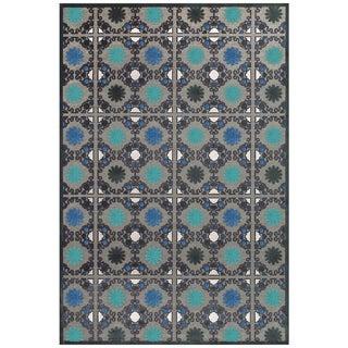 Laois Grey Teal Area Rug (7'6 x 10'6)
