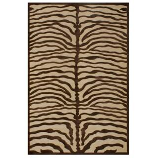 Soho Ivory Chocolate Area Rug (9'8 x 12'7)