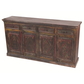 Historic 4 Carved Doors 4-drawer Buffet