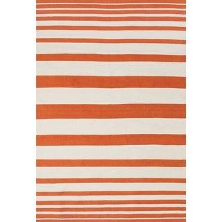 Salta Orange White Area Rug (8' x 11')