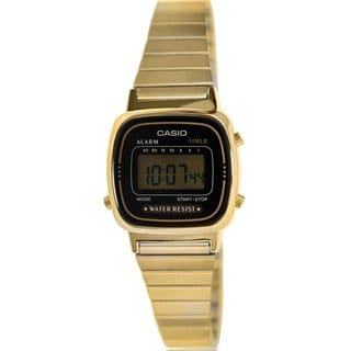 Casio Women's Core LA670WGA-1 Goldtone Stainless Steel Quartz Watch with Digital Dial
