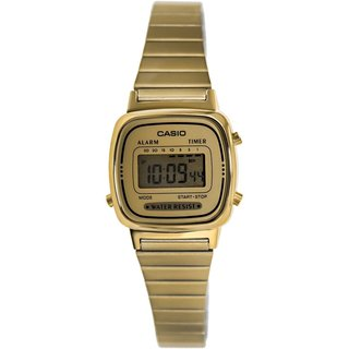 Casio Women's Core LA670WGA-9 Goldtone Stainless Steel Quartz Watch with Digital Dial