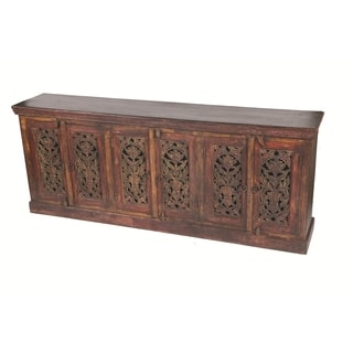 Historic 6 Carved Doors Buffet