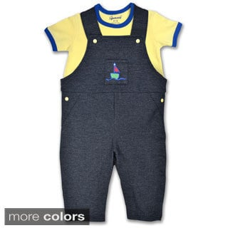 Spencer's Boys' Tee and Denim Overalls Set