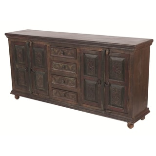 Historic 4 Carved Doors 4 Drawers Buffet