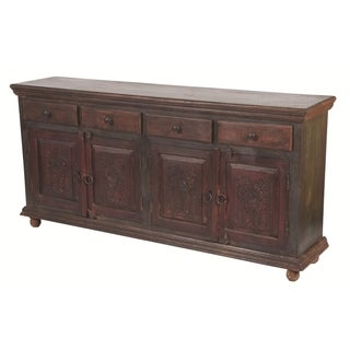 Historict 4 Carved Doors 4-drawer Buffet