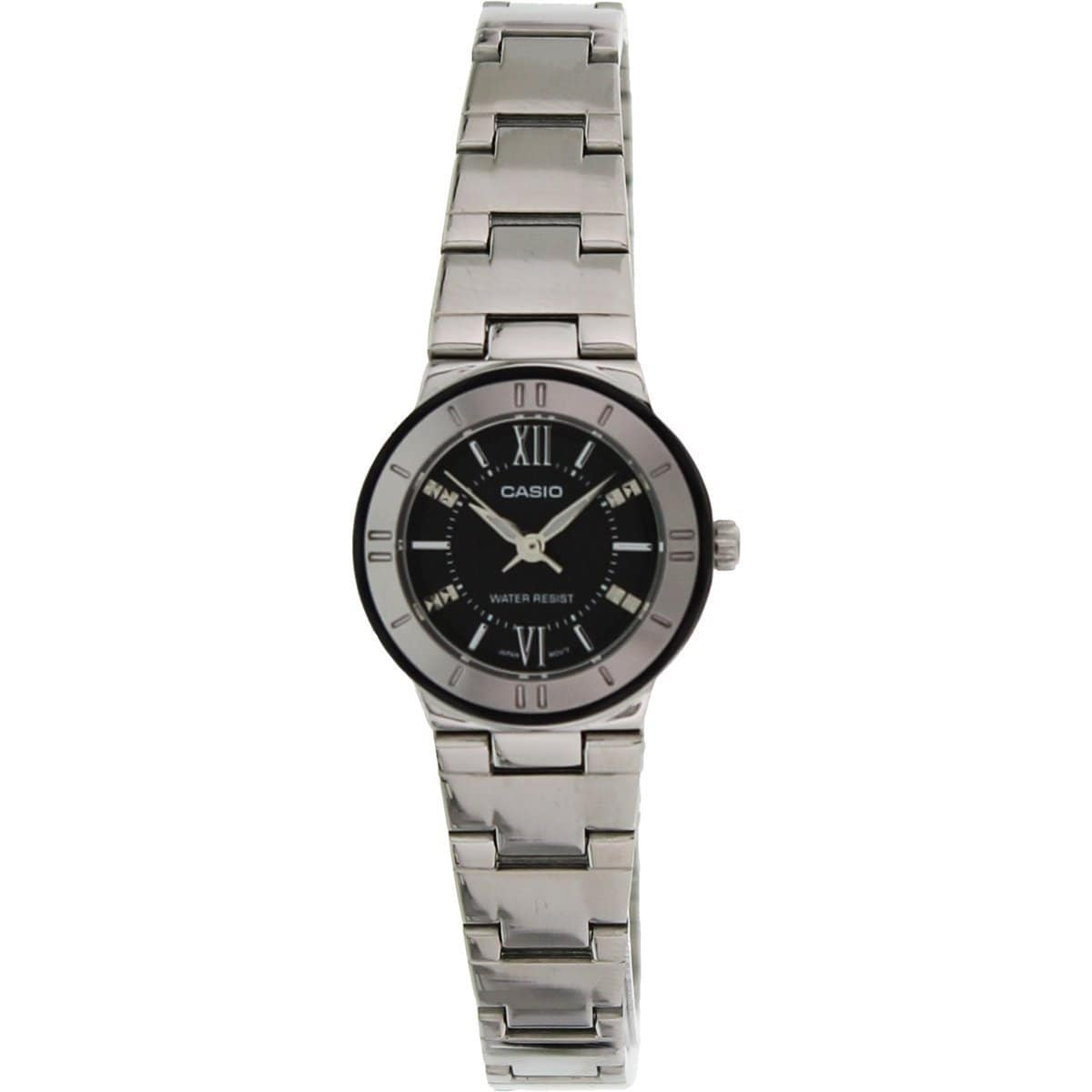 Casio Women's Core LTP1368D-1A1 Silvertone Stainless Steel Quartz Watch with Black Dial at Sears.com