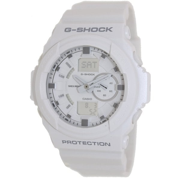Casio Men's G-Shock GA150-7A White Resin Quartz Watch with White Dial