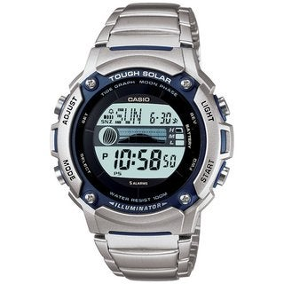 Casio Men's WS210HD-1AV Silvertone Stainless Steel Quartz Watch with Digital Dial