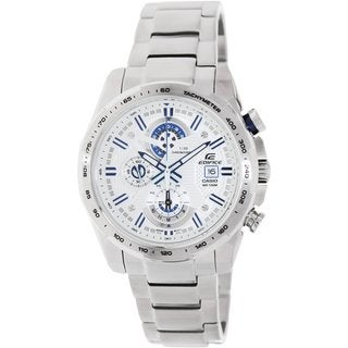 Casio Men's Edifice EFR523D-7AV Silvertone Stainless Steel Quartz Watch with Silvertone Dial