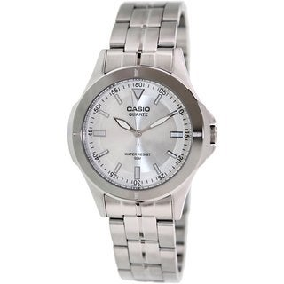 Casio Men's MTP1214A-7AV Silvertone Stainless Steel Quartz Watch with Silvertone Dial