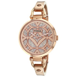 Fossil Women's Georgia ES3422 Rose-Goldtone Stainless Steel Quartz Watch