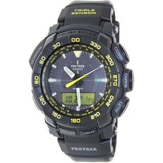 Casio Men's G-Shock PRG550-1A9 Black Plastic Quartz Watch with Black Dial