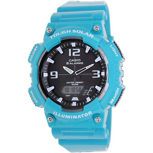 Casio Men's Sport AQS810WC-3AV Blue Plastic Quartz Watch with Black Dial