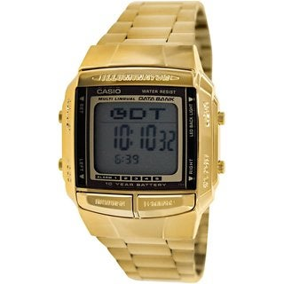 Casio Men's DB360G-9A Goldtone Stainless Steel Quartz Watch with Grey Dial