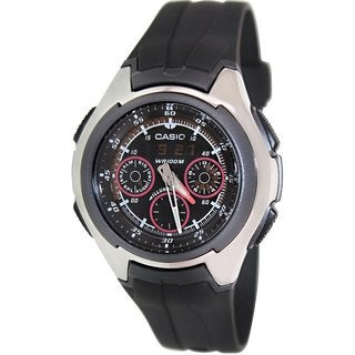 Casio Men's Core AQ180WD-7BV Silvertone Stainless Steel Quartz Watch with Silvertone Dial