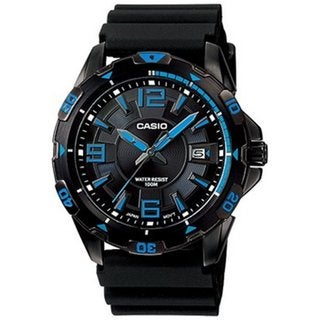 Casio Men's Core MTD1065B-1A1V Black Rubber Quartz Watch with Black Dial