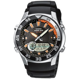Casio Men's Core AMW710-1AV Black Resin Quartz Watch with Black Dial