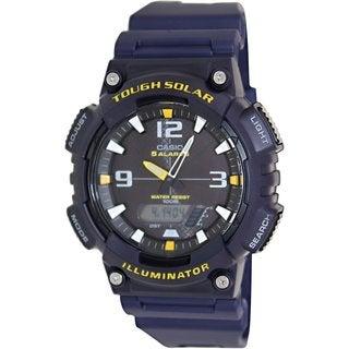 Casio Men's Sport AQS810W-2AV Blue Resin Quartz Watch with Black Dial
