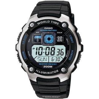 Casio Men's Core AE2000W-1AV Black Resin Quartz Watch with Digital Dial
