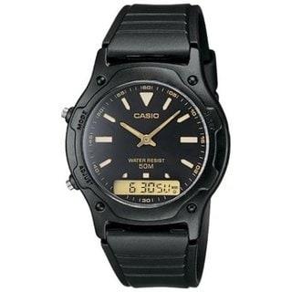 Casio Men's Core AW49HE-1AV Black Resin Quartz Watch with Black Dial