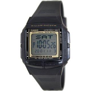 Casio Men's Core DB36-9AV Black Resin Quartz Watch with Digital Dial