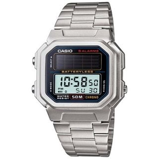 Casio Men's Core AL190WD-1AV Silvertone Stainless Steel Quartz Watch with Digital Dial