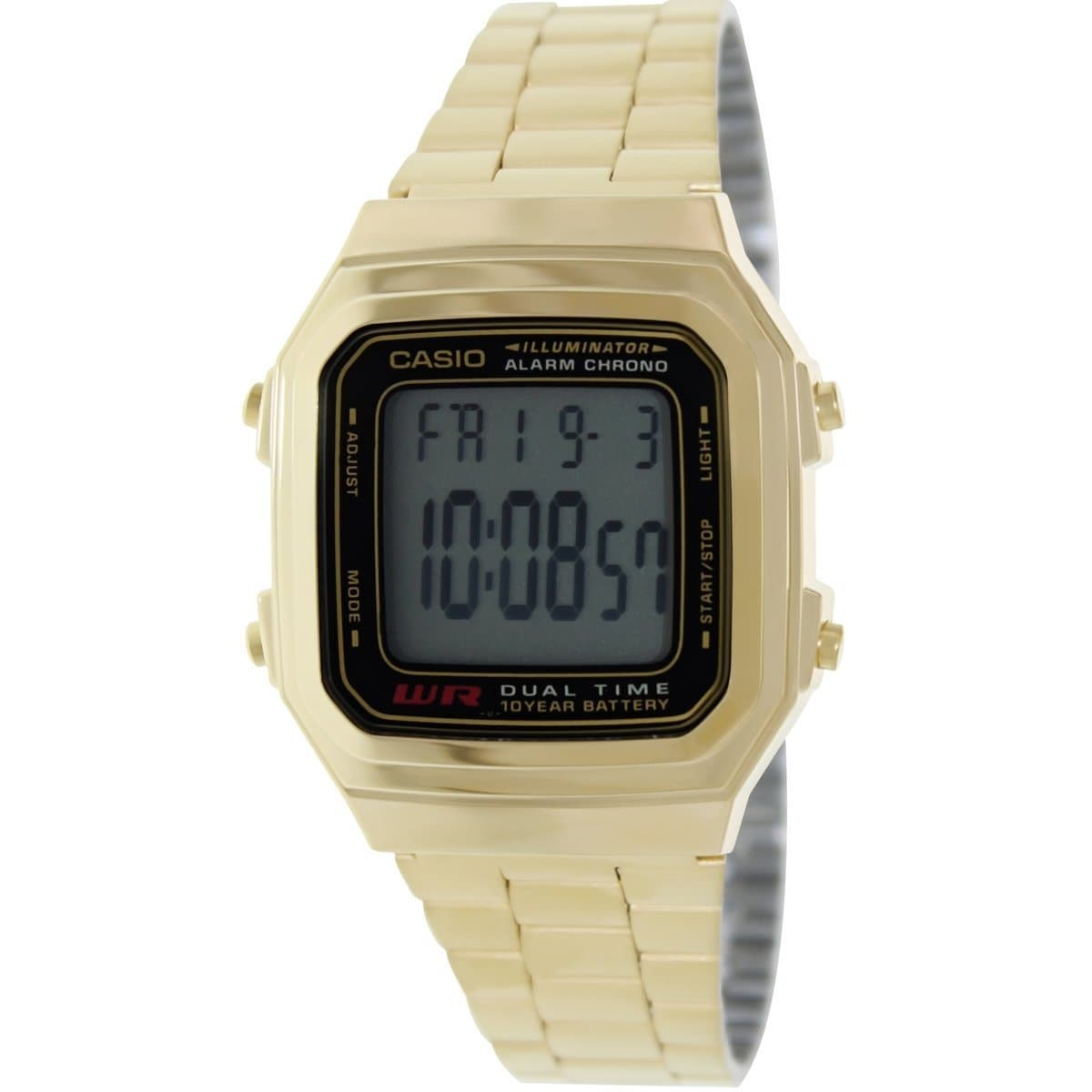 Casio Men's Core A178WGA-1A Goldtone Stainless Steel Quartz Watch with Digital Dial at Sears.com