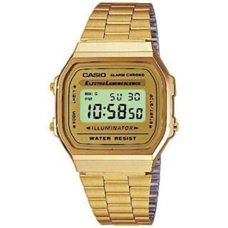 Casio Men's A168WG-9W Goldtone Stainless Steel Quartz Watch with Digital Dial