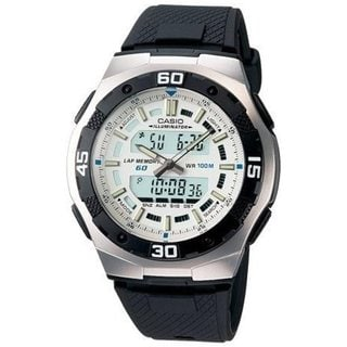 Casio Men's Core AQ164W-7AV Black Resin Quartz Watch with Digital Dial
