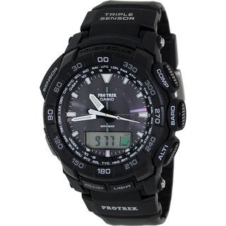 Casio Men's Protrek PRG550-1A1 Black Resin Quartz Watch with Digital Dial