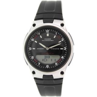Casio Men's Core AW80-1AV Black Resin Quartz Watch with Black Dial