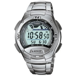 Casio Men's Core W753D-1AV Silvertone Stainless Steel Quartz Watch with Digital Dial
