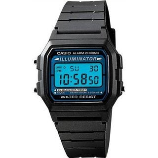 Casio Men's F105W-1A Black Resin Quartz Watch with Digital Dial