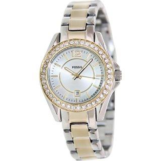 Fossil Women's ES2880 Silvertone Stainless Steel Quartz Watch