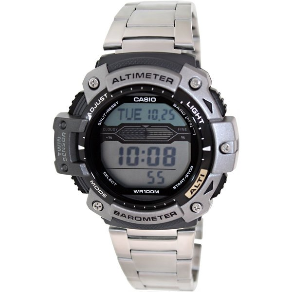 Casio Men's Core SGW300HD-1AV Silvertone Stainless Steel Quartz Watch with Digital Dial