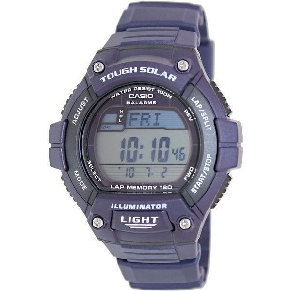Casio Men's Sport WS220-2AV Blue Rubber Quartz Watch with Digital Dial