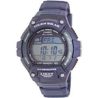 Casio Men's Sport WS220-2AV Blue Rubber Quartz Watch with Digital Dial
