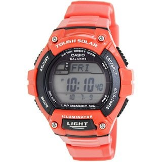 Casio Men's Sport WS220C-4AV Red Plastic Quartz Watch with Digital Dial