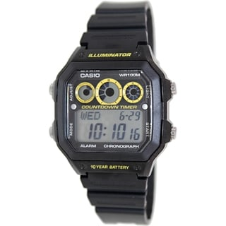 Casio Men's AE1300WH-1AV Black Resin Quartz Watch with Digital Dial