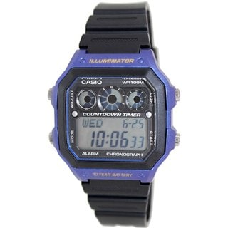 Casio Men's AE1300WH-2AV Black Resin Quartz Watch with Digital Dial
