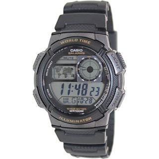 Casio Men's AE1000W-1AV Black Resin Quartz Watch with Digital Dial