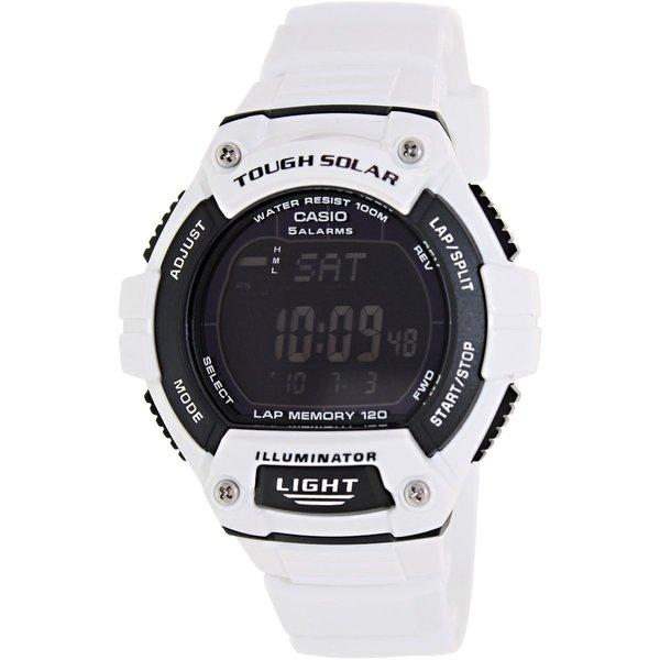 Casio Men's Sport WS220C-7BV White Plastic Quartz Watch with Black Dial