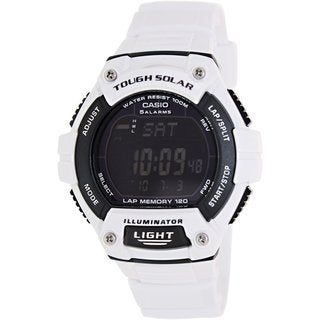 Casio Men's Sport WS220C-7BV White Plastic Quartz Watch with Black Dial