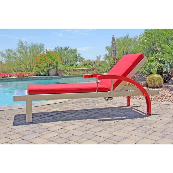 lounge chair with solar powered refreshing cooling mist overstock