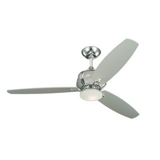 Monte Carlo Acura Polished Nickel 52-inch 3-blade Ceiling Fan
