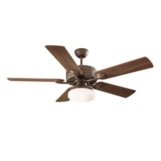Radial 52-inch 5-blade Roman Bronze Ceiling Fan