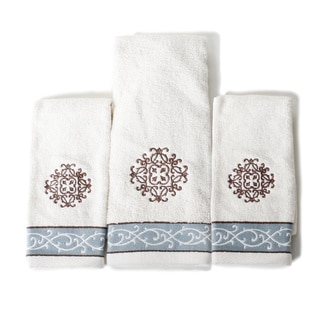 Saturday Knight Landon 3-piece Embroidered Towel Set